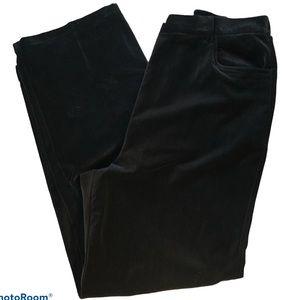 Marsh Landing black wide leg velour pants Size 18